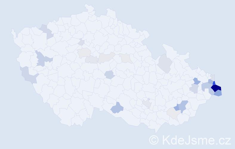 Příjmení: 'Kowalczyk', počet výskytů 111 v celé ČR