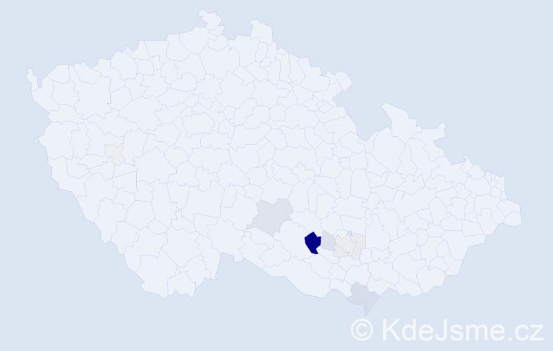 Příjmení: 'Čumplíková', počet výskytů 25 v celé ČR