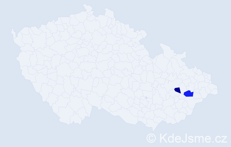 Příjmení: 'Beňáčková', počet výskytů 3 v celé ČR
