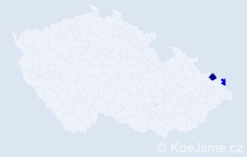 Příjmení: 'Glawatá', počet výskytů 5 v celé ČR