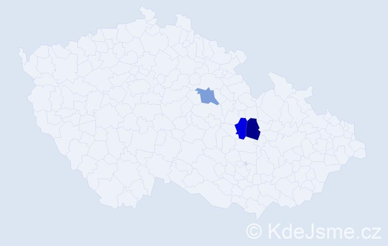 Příjmení: 'Halonková', počet výskytů 3 v celé ČR