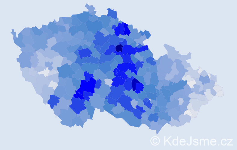 Příjmení: 'Novotný', počet výskytů 24345 v celé ČR
