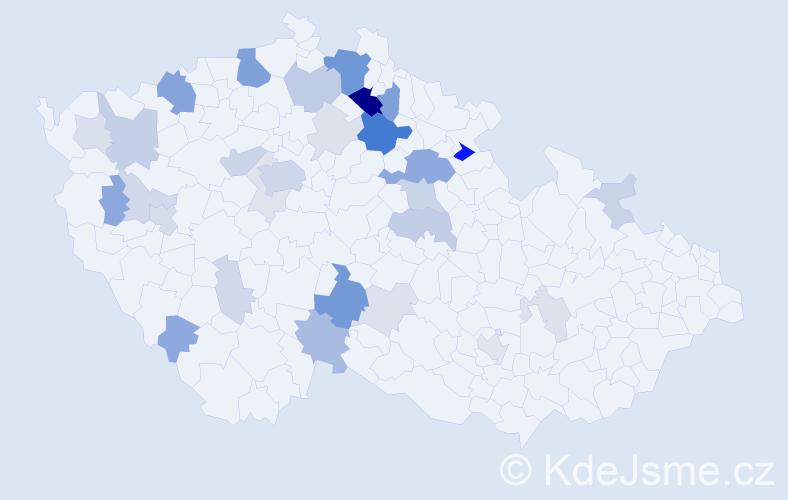 Příjmení: 'Charousek', počet výskytů 93 v celé ČR