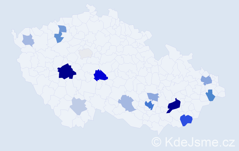 Příjmení: 'Čičatková', počet výskytů 41 v celé ČR