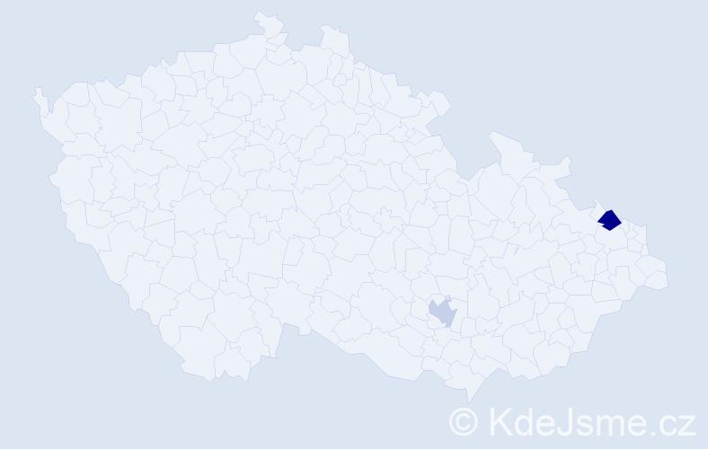 Příjmení: 'Bingham', počet výskytů 3 v celé ČR