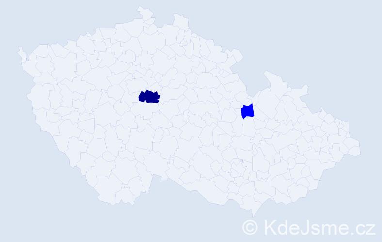 Příjmení: 'Ďurencová', počet výskytů 4 v celé ČR