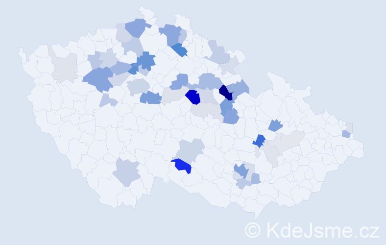 Příjmení: 'Hajn', počet výskytů 144 v celé ČR