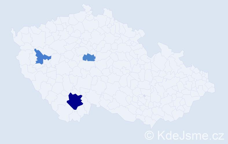 Příjmení: 'Flaišhans', počet výskytů 6 v celé ČR