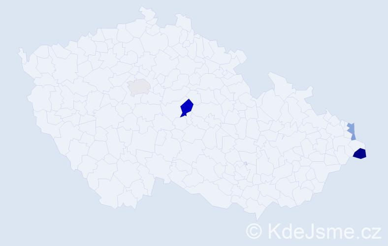 Příjmení: 'Lazarovski', počet výskytů 11 v celé ČR