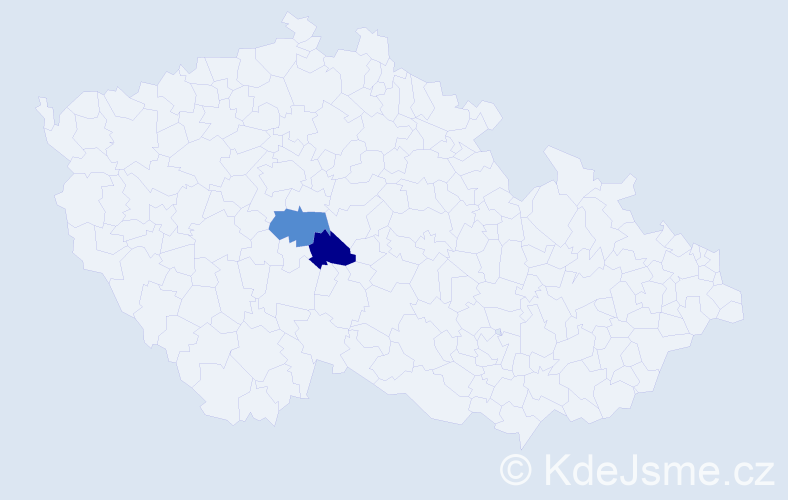 Příjmení: 'Genya', počet výskytů 2 v celé ČR