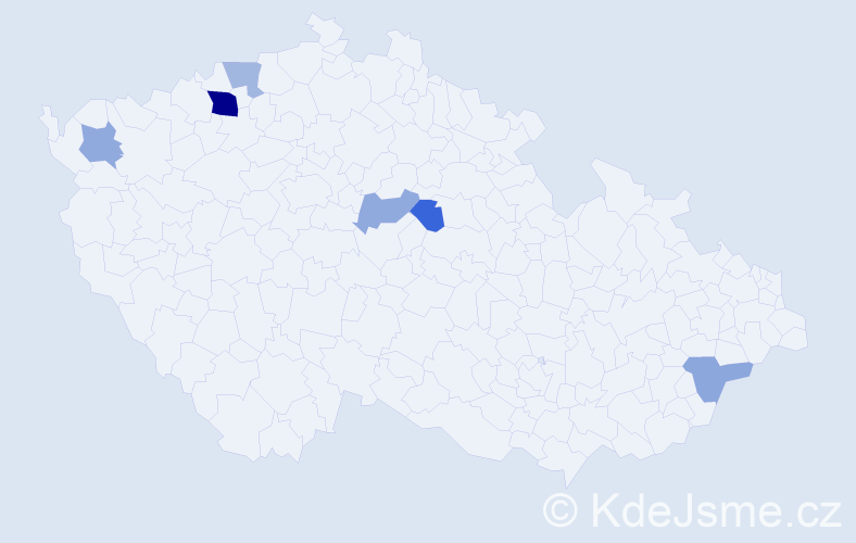 Příjmení: 'Kökenyová', počet výskytů 10 v celé ČR