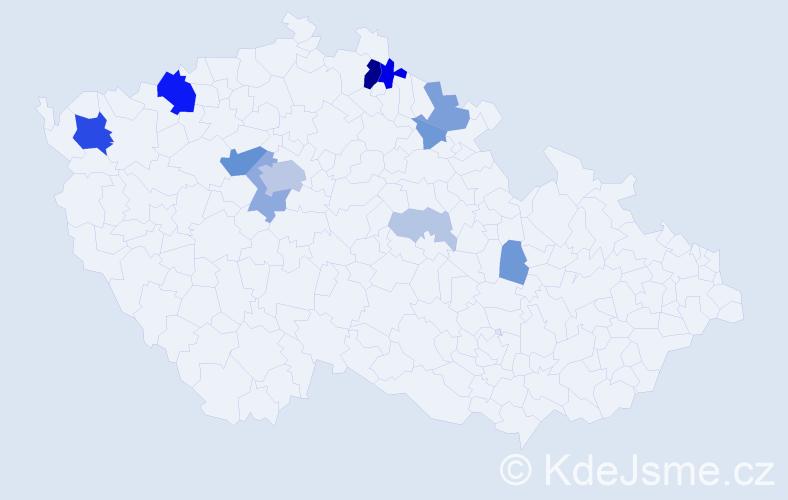 Příjmení: 'Häcklová', počet výskytů 38 v celé ČR