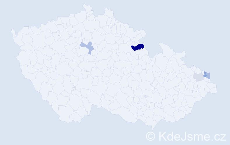 Příjmení: 'Dembinski', počet výskytů 6 v celé ČR