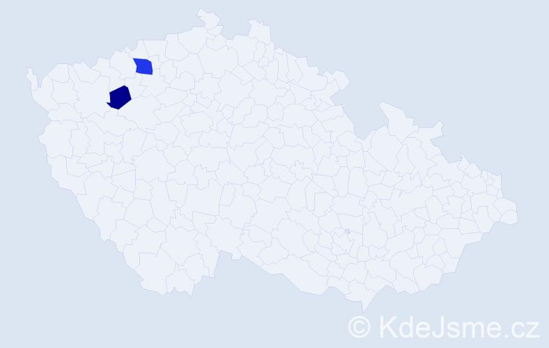 Příjmení: 'Karadzas', počet výskytů 4 v celé ČR