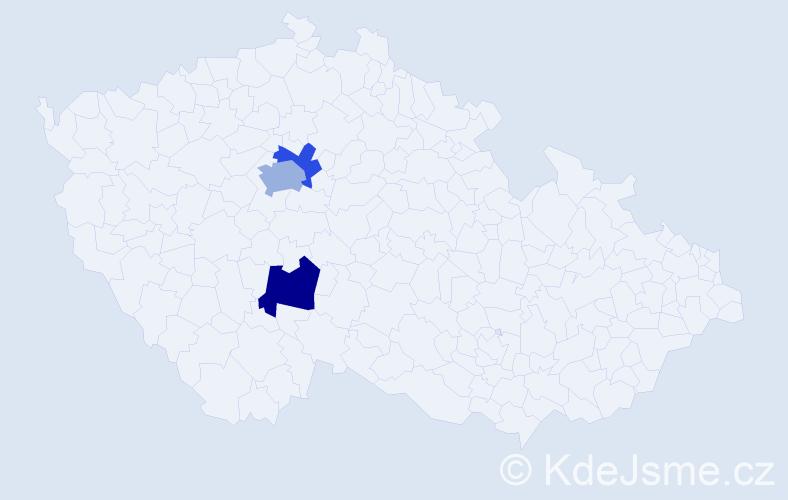 Příjmení: 'Lambojová', počet výskytů 10 v celé ČR