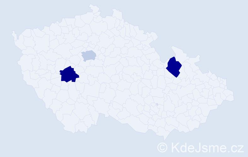 Příjmení: 'Ellbogenová', počet výskytů 3 v celé ČR