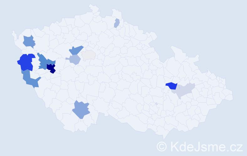 Příjmení: 'Lebová', počet výskytů 40 v celé ČR
