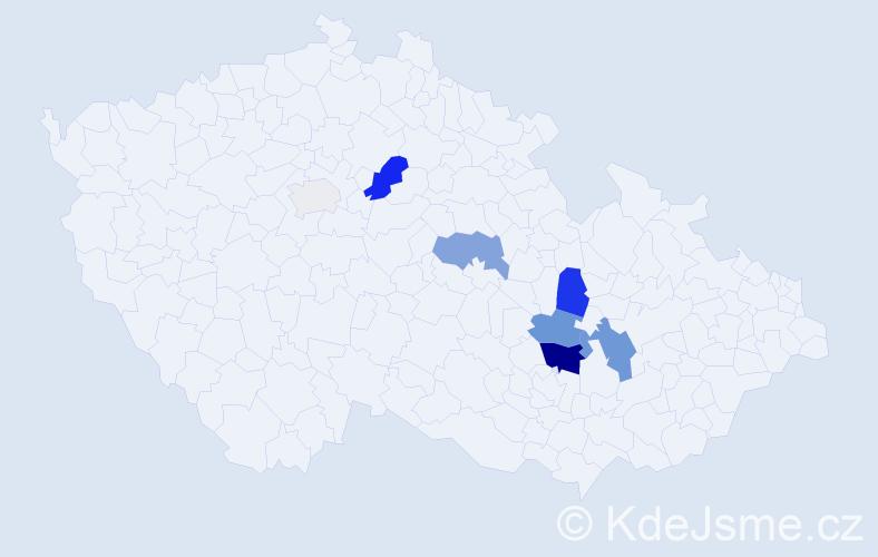Příjmení: 'Elisek', počet výskytů 19 v celé ČR