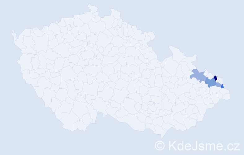 Příjmení: 'Gawelczyk', počet výskytů 9 v celé ČR