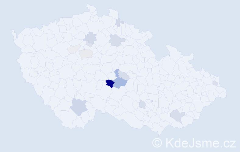 Příjmení: 'Kořenářová', počet výskytů 49 v celé ČR