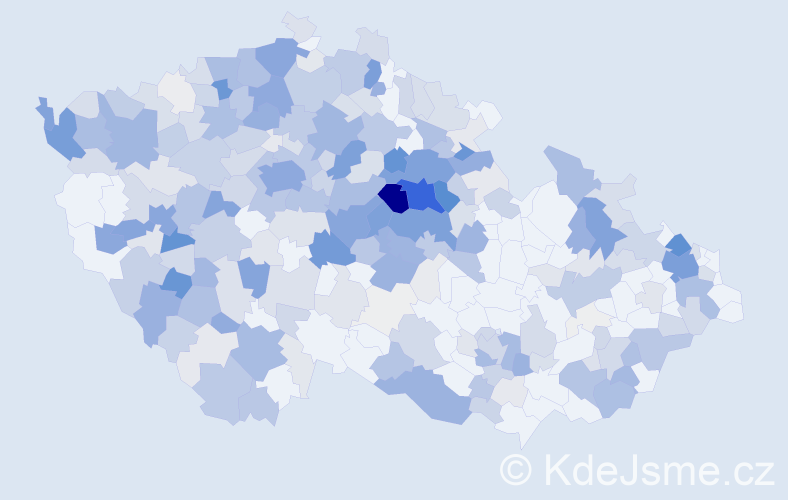 Příjmení: 'Černíková', počet výskytů 1345 v celé ČR
