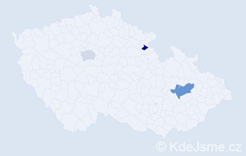 Příjmení: 'Agnew', počet výskytů 7 v celé ČR