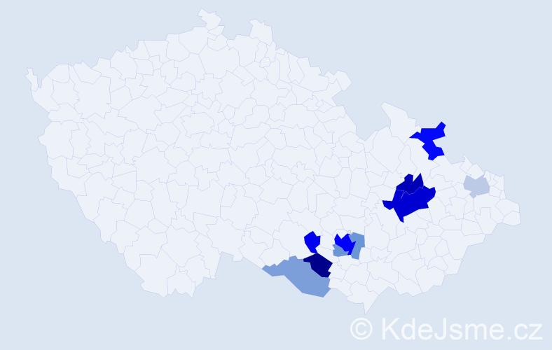 Příjmení: 'Aulehla', počet výskytů 40 v celé ČR