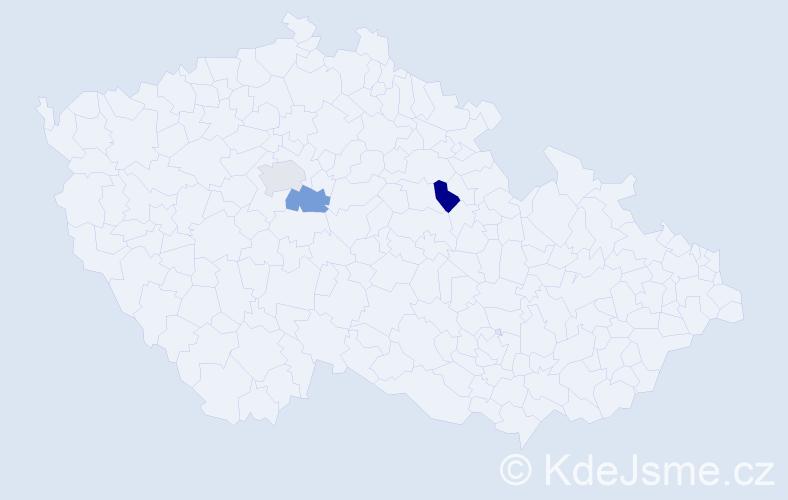 Příjmení: 'Ižáková', počet výskytů 6 v celé ČR