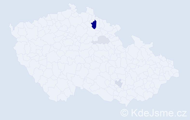 Příjmení: 'Chymková', počet výskytů 10 v celé ČR