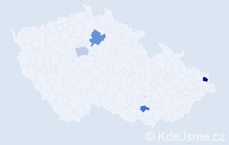 Příjmení: 'Chodanič', počet výskytů 12 v celé ČR
