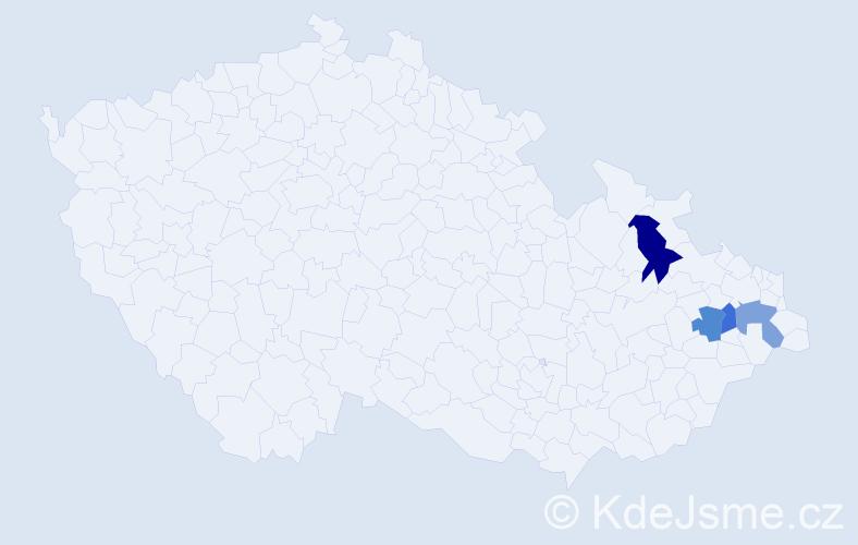 Příjmení: 'Machetanz', počet výskytů 14 v celé ČR