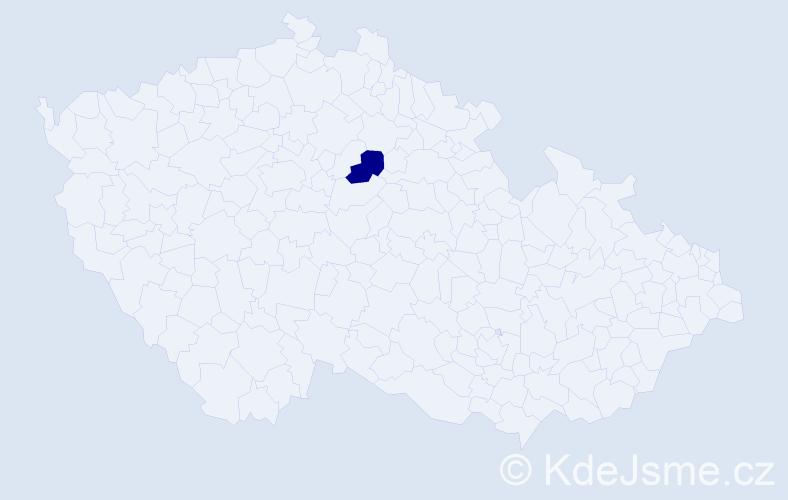 Příjmení: 'Jehe', počet výskytů 3 v celé ČR