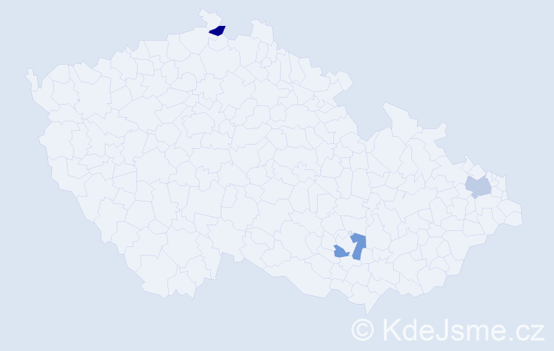 Příjmení: 'Glogowski', počet výskytů 3 v celé ČR
