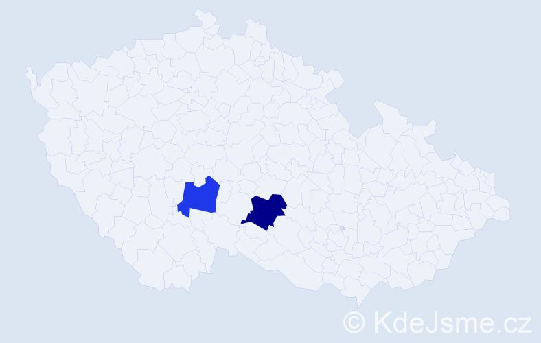 Příjmení: 'Irsa', počet výskytů 8 v celé ČR