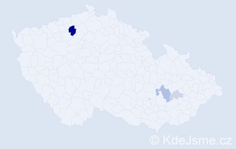 Příjmení: 'Gebur', počet výskytů 8 v celé ČR