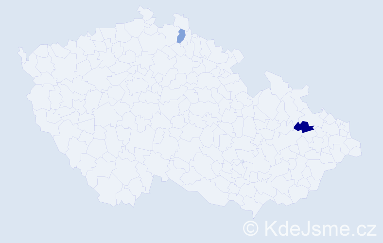 Příjmení: 'Kolniková', počet výskytů 4 v celé ČR