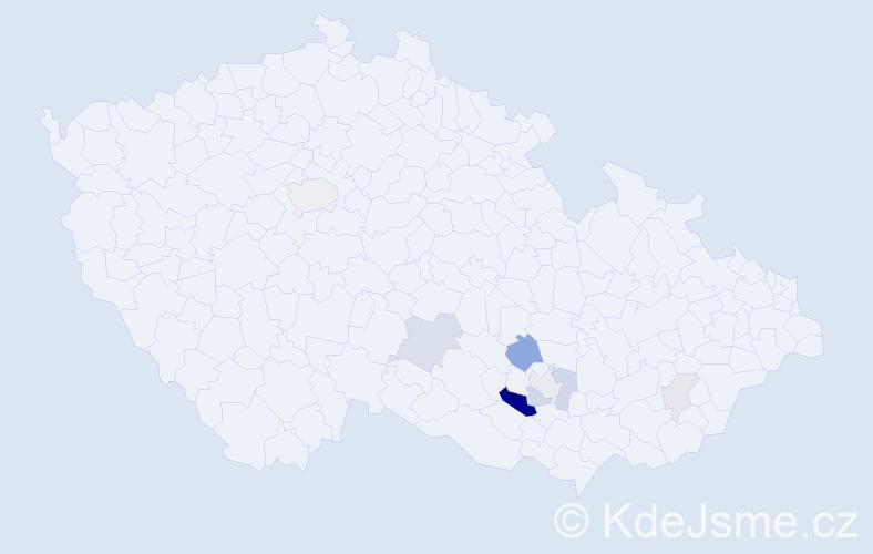 Příjmení: 'Eibel', počet výskytů 24 v celé ČR