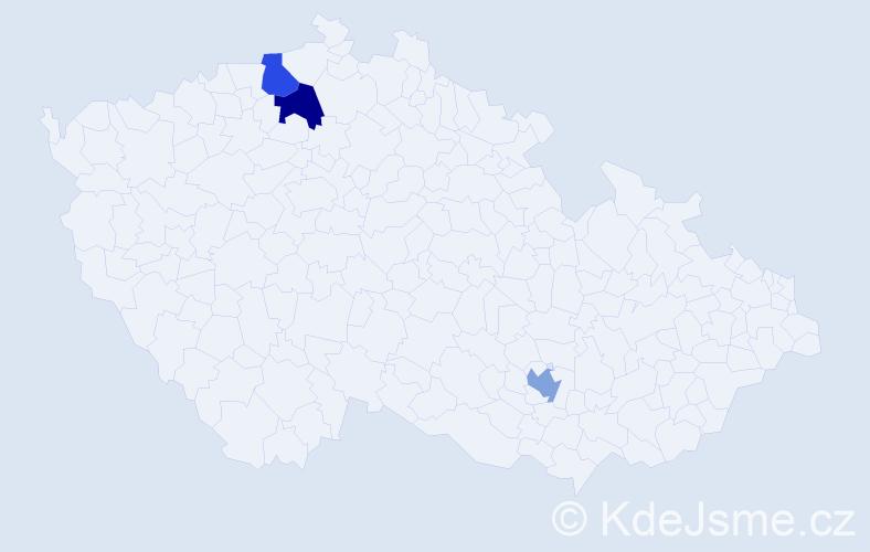 Příjmení: 'Ankertová', počet výskytů 3 v celé ČR