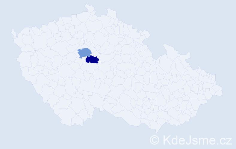 Příjmení: 'Čerbačeská', počet výskytů 5 v celé ČR