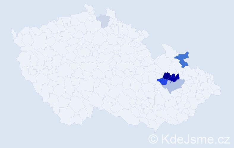 Příjmení: 'Wywialová', počet výskytů 14 v celé ČR