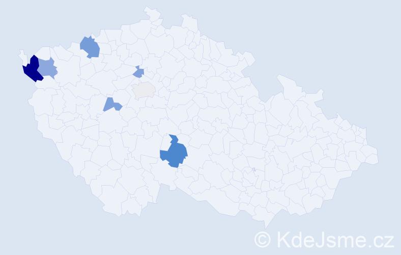 Příjmení: 'Čeháková', počet výskytů 18 v celé ČR