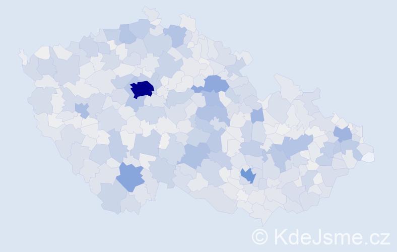 Příjmení: 'Marek', počet výskytů 10833 v celé ČR