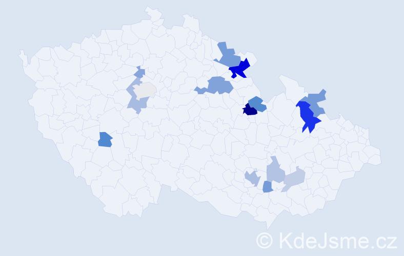 Příjmení: 'Grätz', počet výskytů 41 v celé ČR