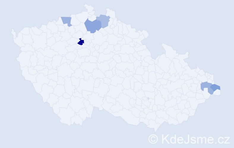 Příjmení: 'Demian', počet výskytů 7 v celé ČR