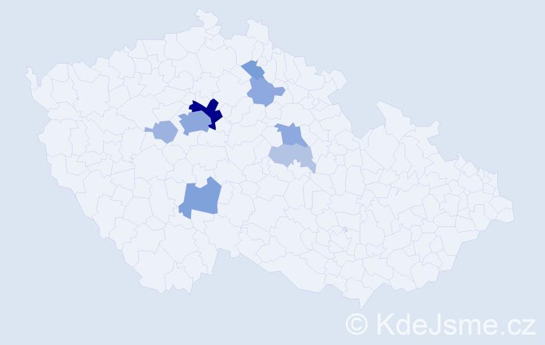 Příjmení: 'Češpivo', počet výskytů 31 v celé ČR