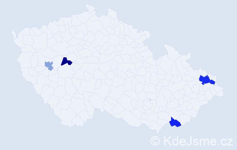 Příjmení: 'Kondiolková', počet výskytů 10 v celé ČR
