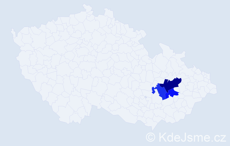 Příjmení: 'Geiersbergová', počet výskytů 4 v celé ČR