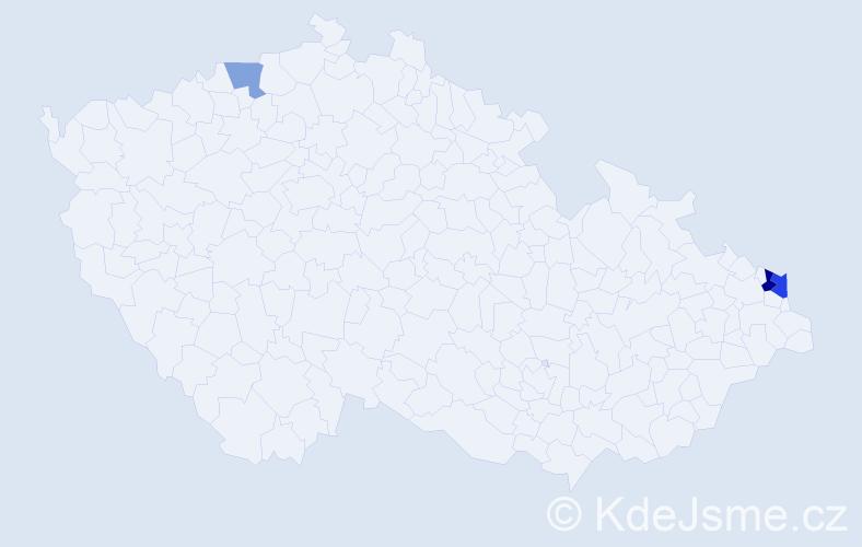 Příjmení: 'Kobylanský', počet výskytů 5 v celé ČR
