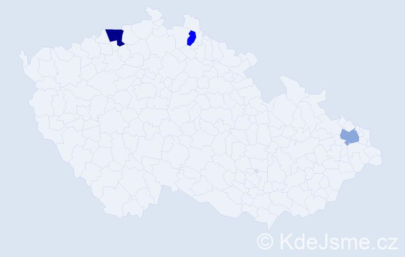 Příjmení: 'Bekakisová', počet výskytů 4 v celé ČR