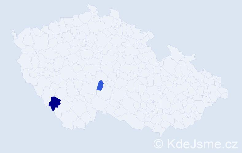 Příjmení: 'Kereszteš', počet výskytů 4 v celé ČR